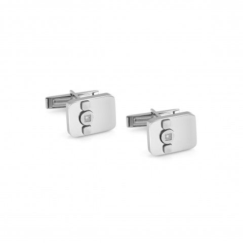 Cufflinks_Voyage_Stainless_Steel_Precious_Stones_Men's_Accessory_in_Stainless_Steel_and_Stones