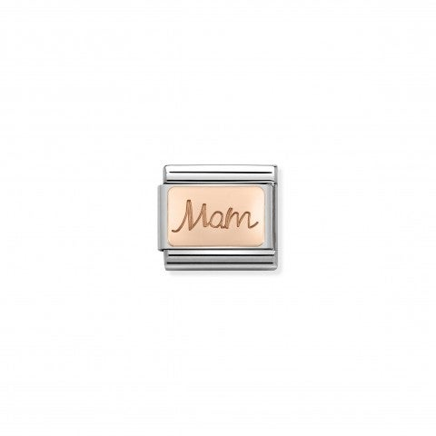 "Composable_Classic_Mamma_Link_in_Rose_Gold_Link_inscribed_with_""Mam"""