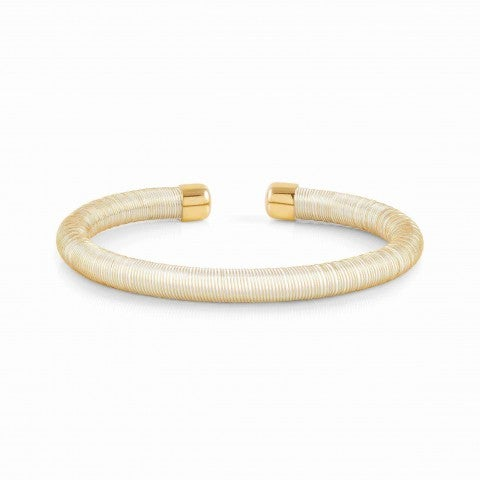 Essenzia_Bracelet_in_Gold_Stainless_steel_bracelet_with_rubber_core