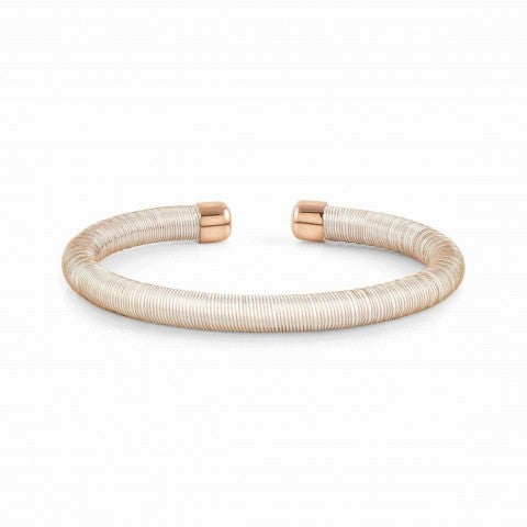 Essenzia_Bracelet_in_Rose_Gold_Flexible_stainless_steel_bracelet_with_rubber_core