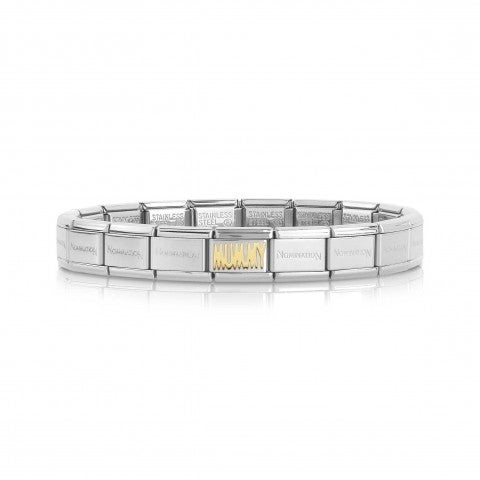 Composable_Classic_MUMMY_Bracelet_in_Gold_Bracelet_in_stainless_steel_and_gold_with_writing