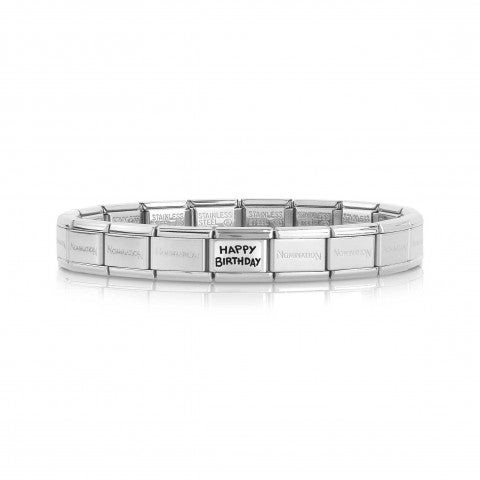 Composable_Classic_Happy_Birthday_Bracelet_Bracelet_in_steel_with_Link_in_silver_and_enamel