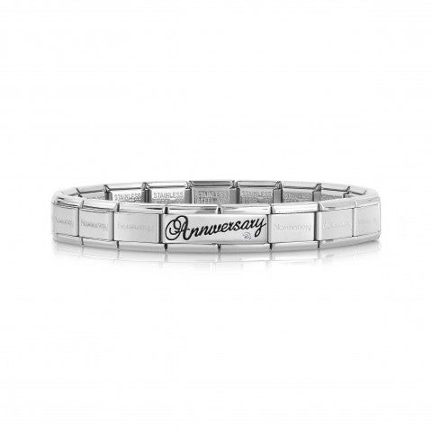 Composable_Classic_Anniversary_Bracelet_with_Gem_Bracelet_with_writing_in_silver_and_white_Zirconia