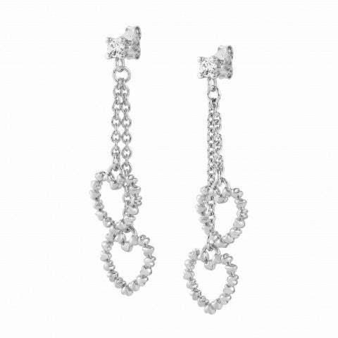 Rockinlove_Drop_Earrings_with_Hearts_Brass_earrings_with_white_rhodium_finish