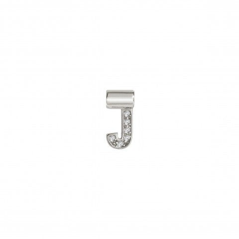 Sei_Mia_Pendant_with_Letter_J_Letter_in_rhodium-plated_Sterling_Silver,_Cubic_Zirconia