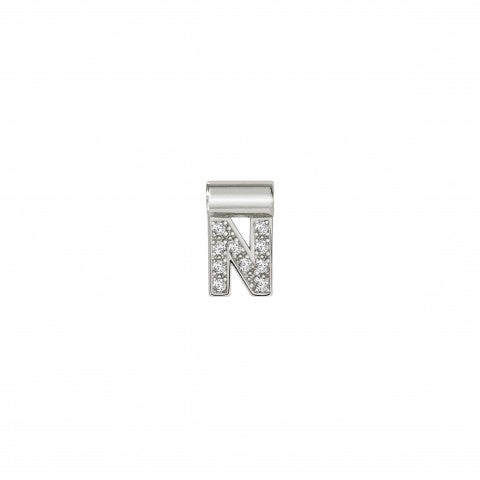 Sei_Mia_Pendant_with_Letter_N_Letter_Pendant_in_Sterling_Silver_with_Cubic_Zirconia