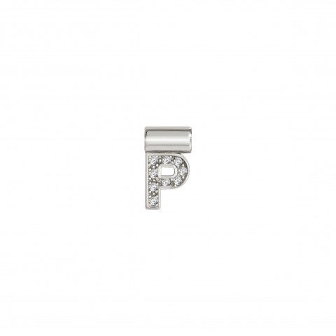 SeiMia_Pendant_with_Letter_P_Alphabetic_Letter_in_Silver_and_Cubic_Zirconia