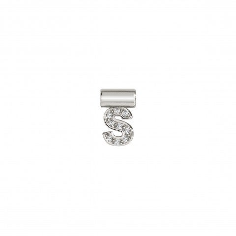 SeiMia_Pendant_with_Letter_S_Alphabetic_Letter_in_Silver_and_white_Cubic_Zirconias