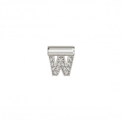 SeiMia_Pendant_with_Letter_W_Letter_in_Silver_and_Cubic_Zirconia