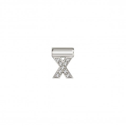 SeiMia_Pendant_with_Letter_X_Letter_in_Sterling_Silver_with_Stones