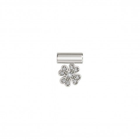 SeiMia_Pendant_with_Four-leaf_clover_Symbol_in_Sterling_Silver_with_good_luck_charm