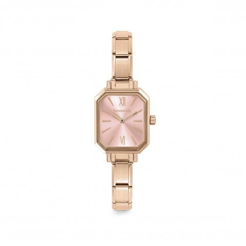 Classic_Composable_Rose_Gold_Watch_Personalisable_watch_featuring_coloured_strap