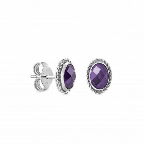 Oval_earrings_with_Cubic_Zirconia_Earrings_in_Sterling_Silver_with_Stone
