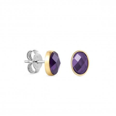 Steel_Earrings_with_Cubic_Zirconia_Oval_earrings_with_synthetic_coloured_stone