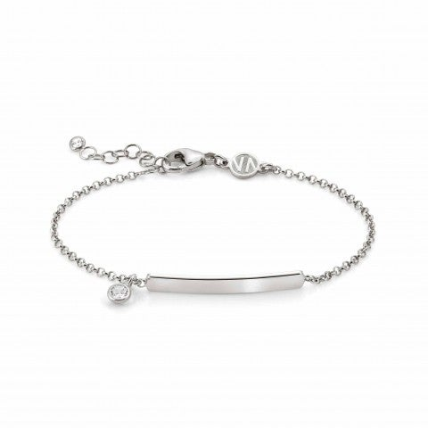 Gioie_Bracelet_with_inscribable_plaque_Sterling_Silver_Bracelet_with_pendant_and_Swarovski_Zirconia