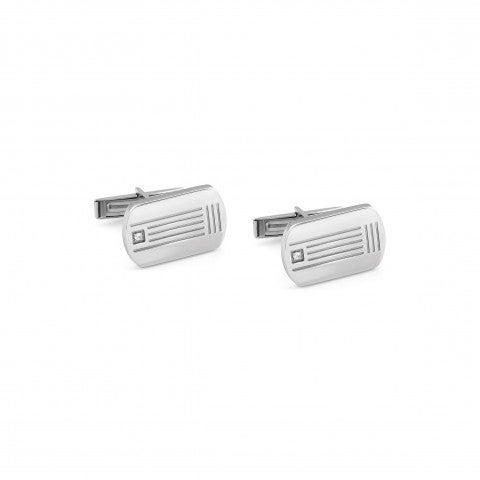 Class_cufflinks_with_diamond_Steel_Cufflinks_in_rectangular_shape