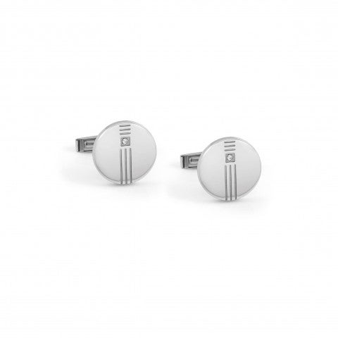 Class_cufflinks_with_rounded_Diamond_Steel_Cufflinks_in_rounded_shape