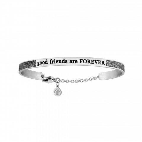 Friends_forever_Messaggiamo_Bracelet_Bracelet_in_Steel_and_black_Glitter_Enamel