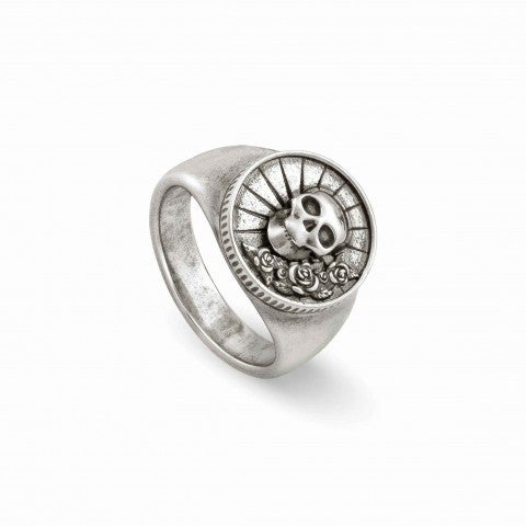 Freedom_Ring_in_Brass_with_Skull_and_Rose_Ring_in_brass_and_silver_plated_finish_with_symbols