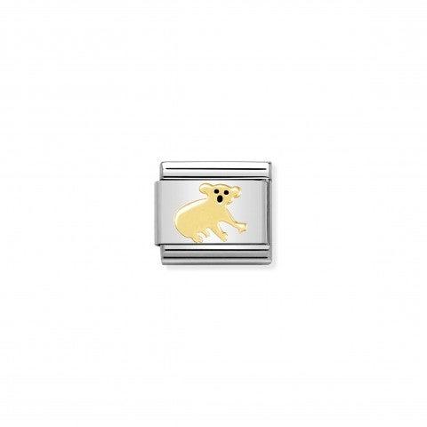 Link_Composable_Classic_Koala_Link_in_Acciaio,_Oro_giallo_e_Smalto