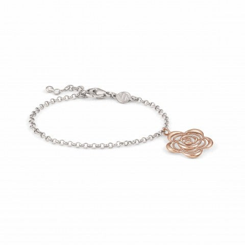 Primavera_Bracelet_with_Flower_Bracelet_with_symbol_pendant_in_22K_rose_gold