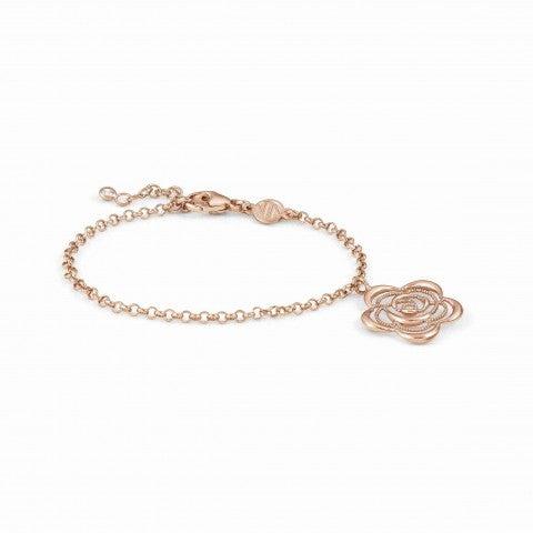 Primavera_Bracelet_in_Rose_Gold_with_Flower_Bracelet_with_22K_rose_gold_finishing
