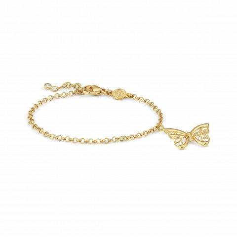 Primavera_Bracelet_in_Gold_with_Butterfly_Bracelet_with_24K_gold_plating