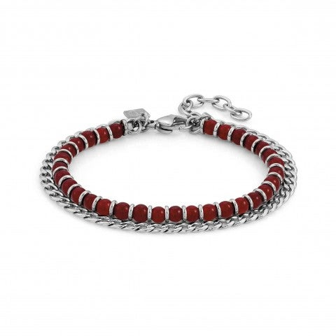 Instinct_Bracelet_in_Stainless_Steel_and_Gemstones_Bracelet_for_Him_with_coloured_gemstones