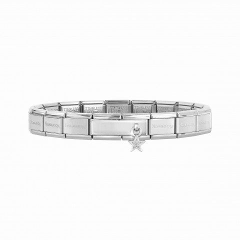 Composable_Classic_Bracelet_with_Double_Link_Star_Pendant_Bracelet_with_engravable_Double_Link_and_Star_pendant_with_Glitter
