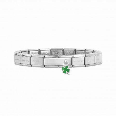 Composable_Classic_Bracelet_with_Double_Link_Four-Leaf_Clover_Pendant_Bracelet_with_pendant_in_silver_and_Four-Leaf_Clover_with_green_enamel