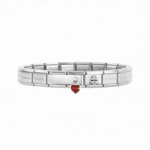 Composable_Classic_Bracelet_with_Double_Link_Inscription_and_Heart_Bracelet_with_engravable_pendant_in_silver_and_enamel