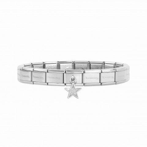 Bracelet_Composable_Classic_avec_Pendentif_Étoile_Glitter_Bracelet_avec_Pendentif_en_Argent_et_Étoile_avec_Glitter_Blanc