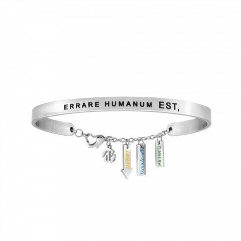 Messaggiamo_Bracelet_Errare_Humanum_Est_Stainless_steel_and_black_enamel_bracelet_with_3_pendants