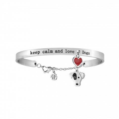 Bracciale_Messaggiamo_Keep_Calm_and_Love_Dogs_Bracciale_in_Acciaio_con_pendenti_Cane_e_Cuore_Rosso