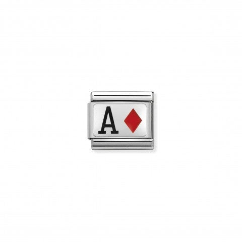 Composable_Classic_Link_Ace_of_Diamonds_Link_con_lettera_A_in_coloured_enamel_#oneformeoneforyou