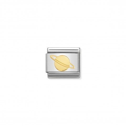 Link_Composable_Classic_Saturno_Link_in_Acciaio_con_simbolo_in_Oro.