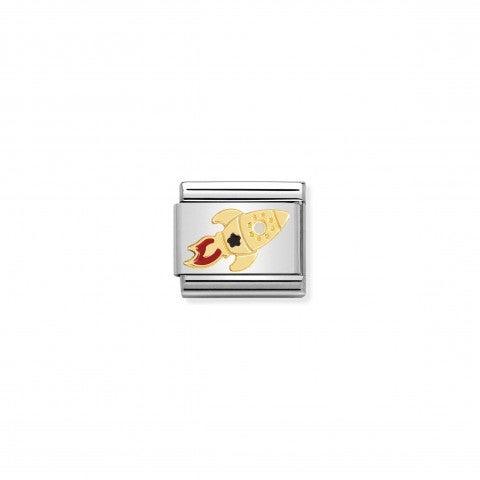 Link_Composable_Classic_Cohete_espacial_Link_en_Oro_750_y_esmalte_con_símbolo