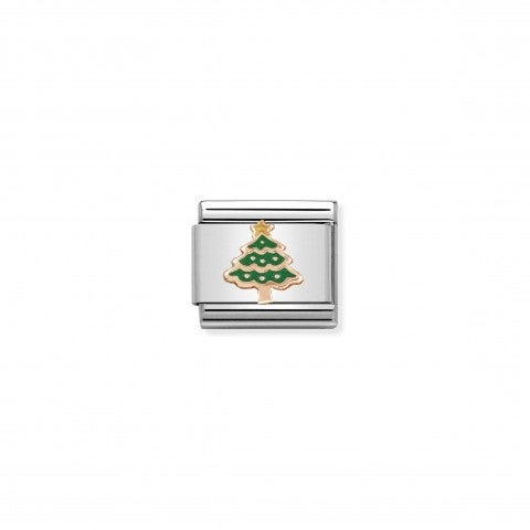 Composable_Classic_Link_Rose_Gold_Christmas_Tree_Christmas_symbol_in_green_enamel