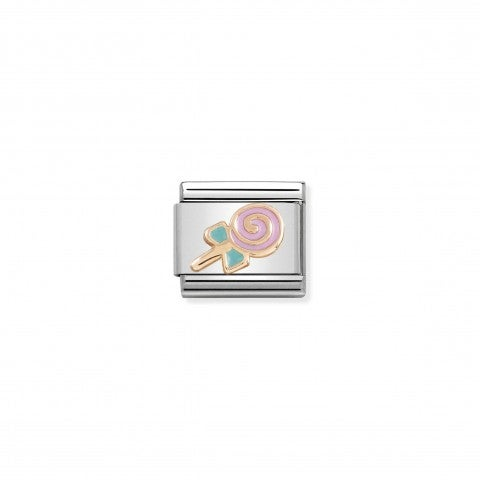 Composable_Classic_Link_Rose_gold_Lollypop_Candy_symbol_with_coloured_enamel
