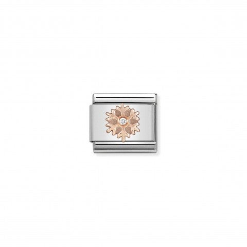 Composable_Classic_Link_Rose_gold_Snowflake_CZ_Link_with_Christmas_symbol_and_white_stone