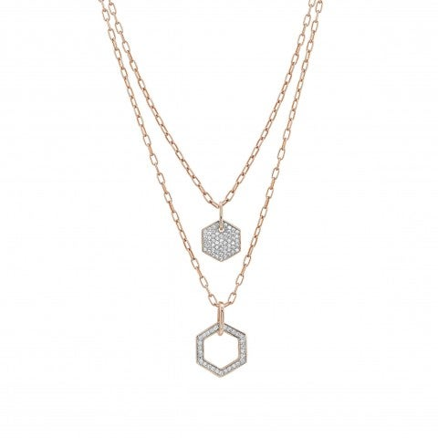 Emozioni_Necklace_with_Double_Chain_Double_pendant_with_Cubic_Zirconia