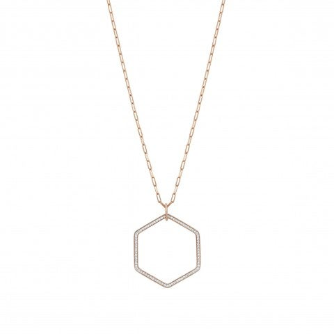 Emozioni_Necklace_with_Hexagon_Pendant_Necklace_with_geometric_shape_pendant