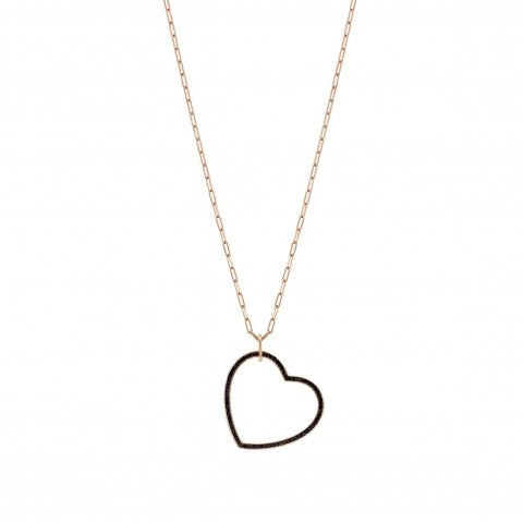 Emozioni_Necklace_with_Heart_Pendant_Long_necklace_with_black_Heart_pendant