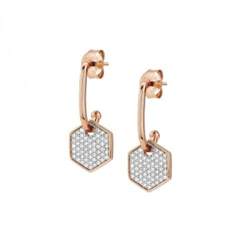 Emozioni_Earrings_with_Small_Hexagon_Earrings_with_pendant_and_white_Zirconia