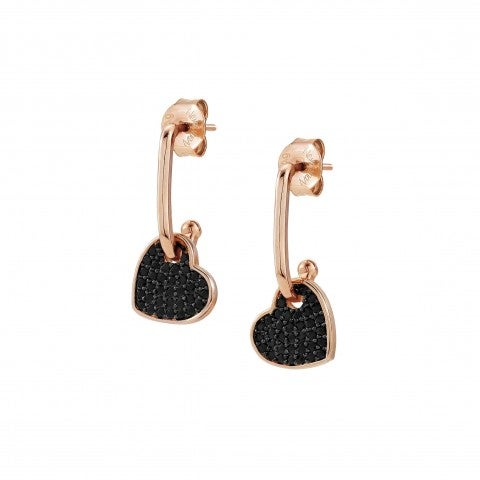 Emozioni_Earrings_with_Small_Black_Heart_Earrings_with_black_Heart_pendants