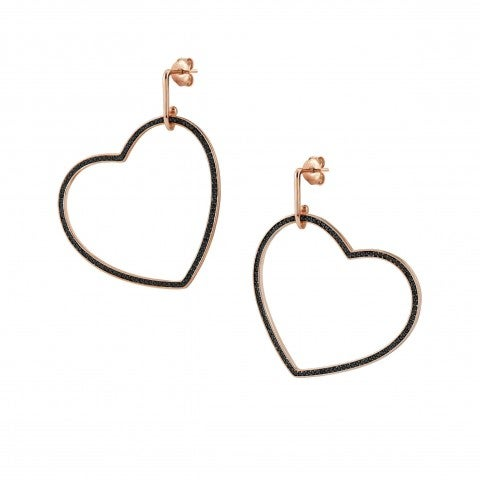Emozioni_Earrings_with_Large_Black_Heart_Earrings_with_black_Heart_pendant