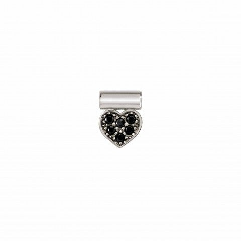 SeiMia_Pendant_with_Black_Heart_and_Gemstones_Pendant_with_black_Cubic_Zirconia