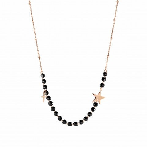 Melodie_Necklace_with_Star_and_Cross_Necklace_in_silver_with_pendants_and_black_crystals