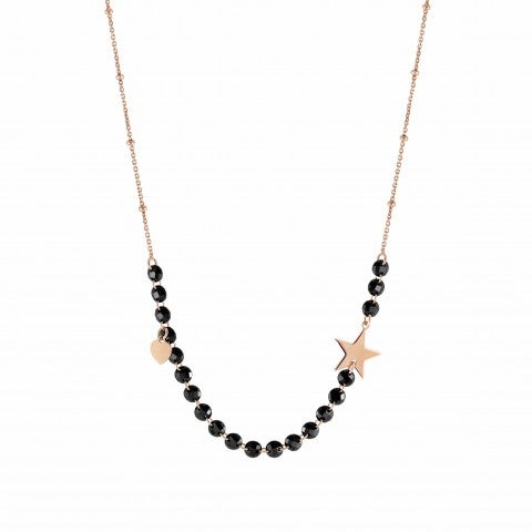Melodie_Necklace_with_Heart_Necklace_in_silver_with_pendant_and_black_gemstones
