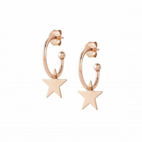 Melodie_Hoop_Earrings_with_Stars_Earrings_in_silver_with_Stars